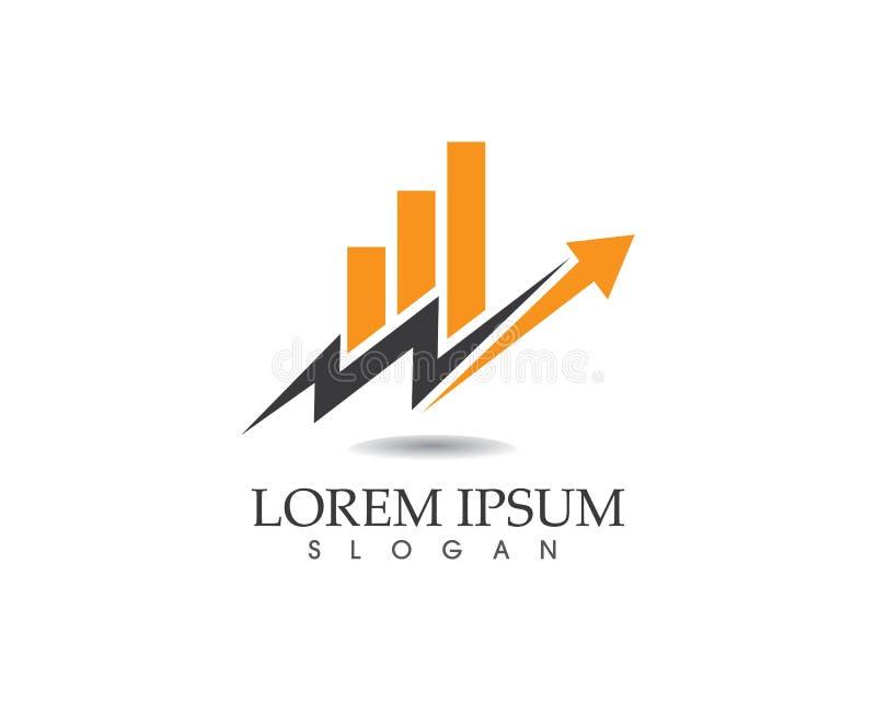 Affärsfinanslogo och illustration för symbolvektorbegrepp stock illustrationer