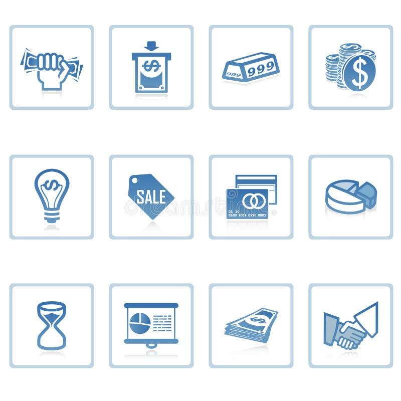 affärsfinanssymbol royaltyfri illustrationer