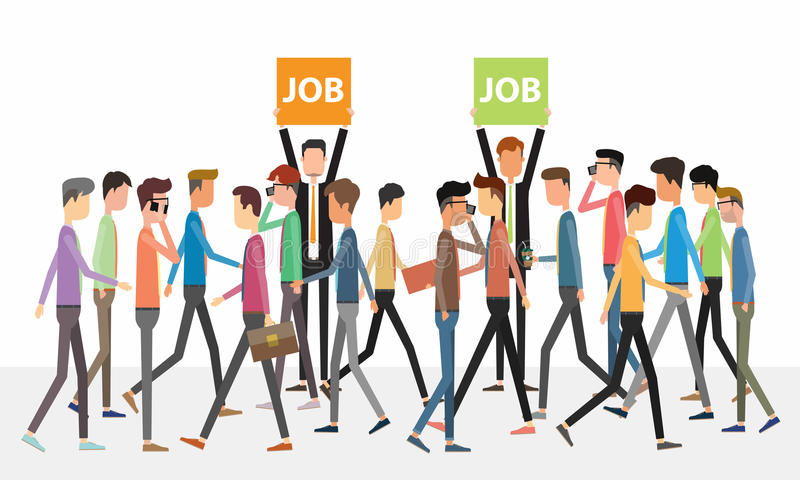 Affärsfolk och begrepp för jobbutnämningar royaltyfri illustrationer