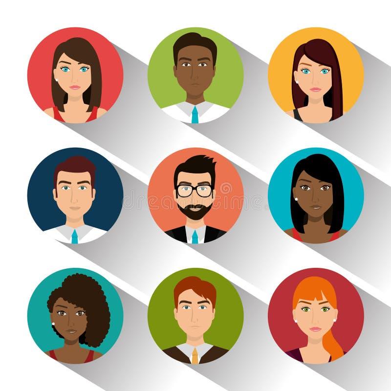 Affärsfolk och entreprenör stock illustrationer