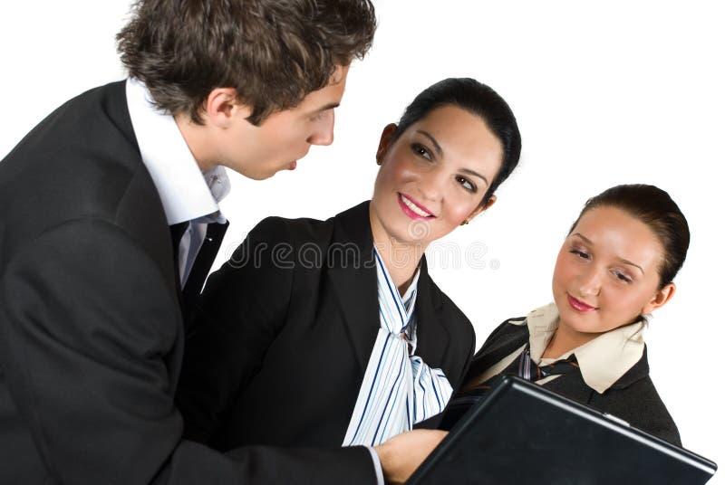 Affärsfolk på mötet royaltyfria bilder