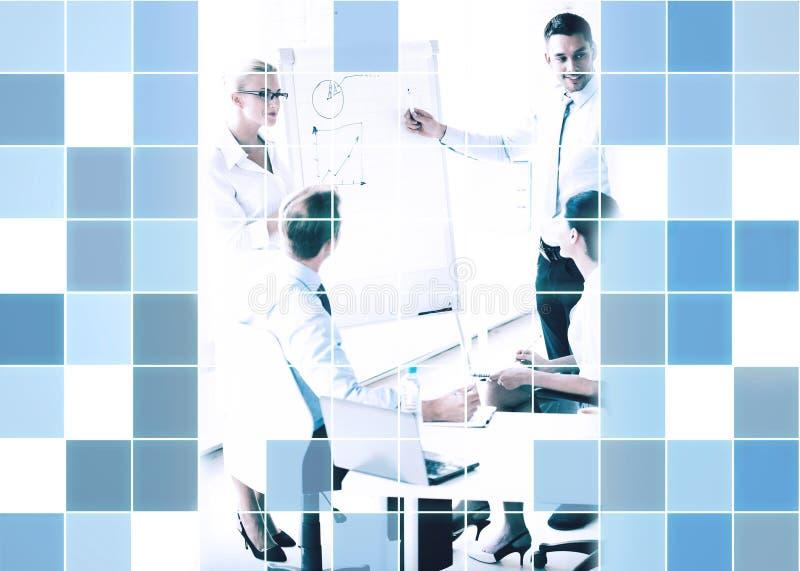 Affärsfolk på presentationen i regeringsställning vektor illustrationer