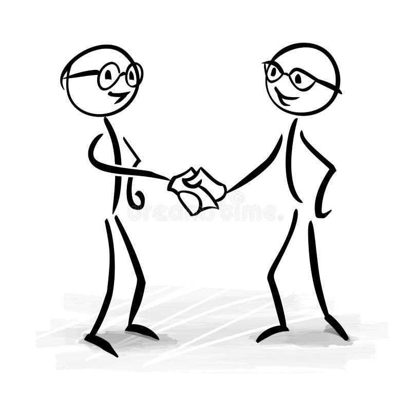 Affärsfolk som gör ett avtal vektor illustrationer