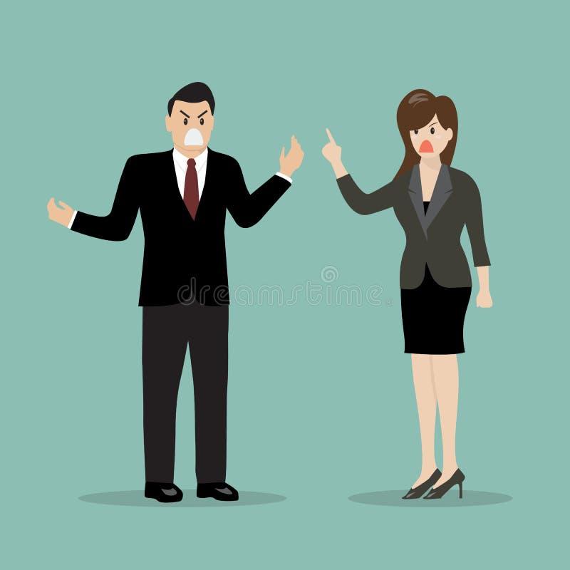 Affärsfolk som har en gräla vektor illustrationer