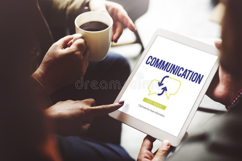 Affärsfolk som möter diskussionskommunikationsbegrepp arkivbild