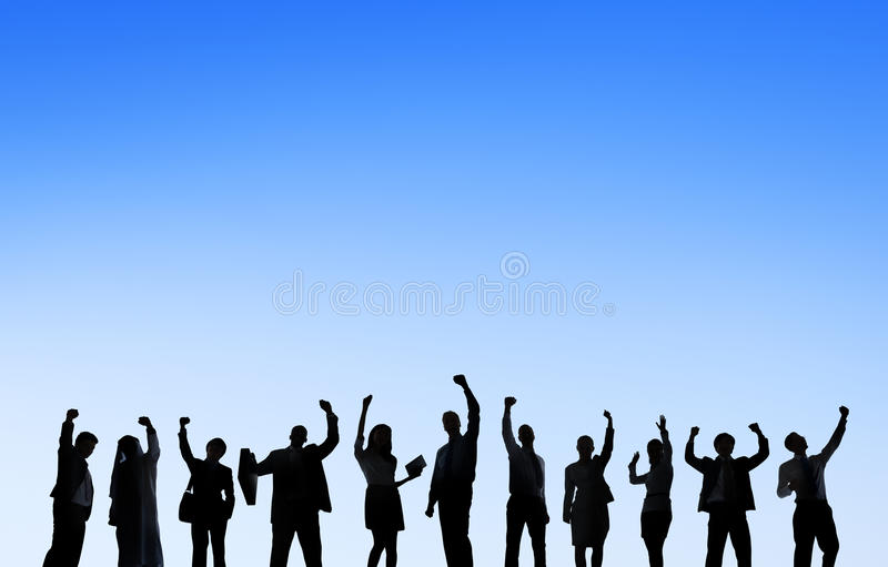 Affärsfolk som möter utomhus Team Teamwork Support Concept royaltyfri bild