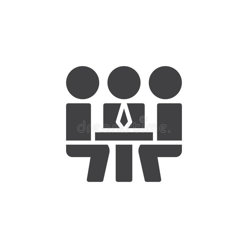 Affärsfolk som möter vektorsymbolen royaltyfri illustrationer