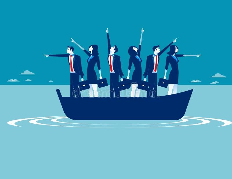 Affärsfolk som pekar i olika riktningar Begreppsbusine vektor illustrationer