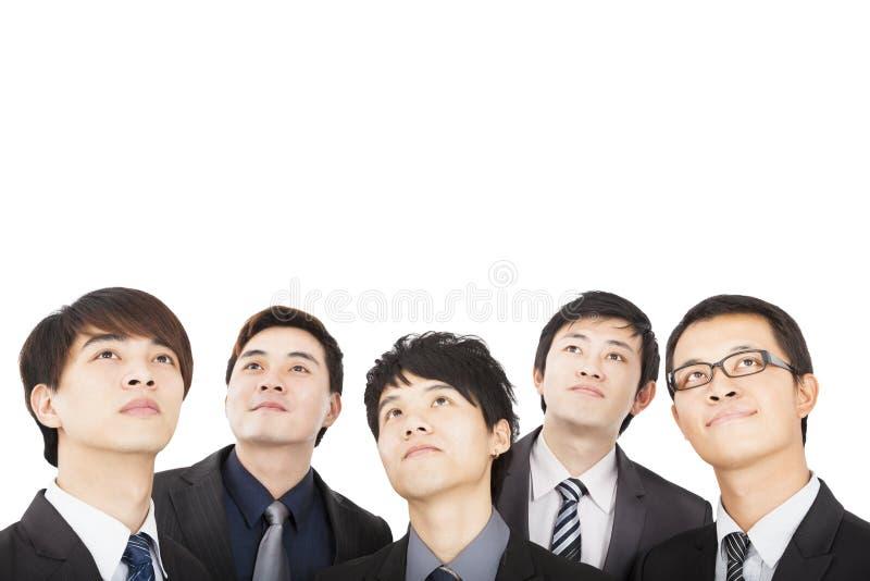 affärsfolk som ser upp royaltyfri foto
