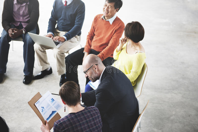Affärsfolk Team Teamwork Working Meeting Concept royaltyfria foton