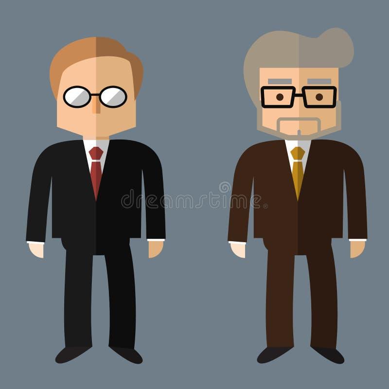 Affärsfolk, vektorlägenhetdesign stock illustrationer