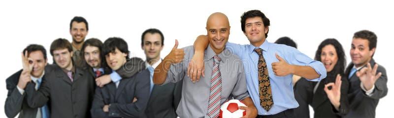 affärsfotboll royaltyfria foton