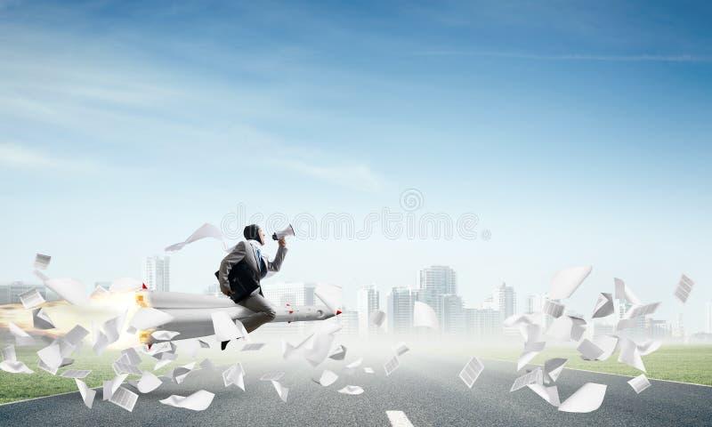 Affärsframgång och målprestationbegrepp arkivfoton
