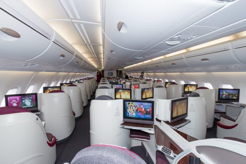Affärsgrupp för flygbuss A380 fotografering för bildbyråer