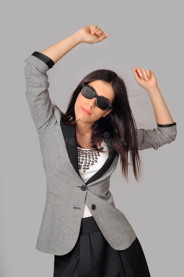 affärsgyckel som har kvinnor royaltyfri bild