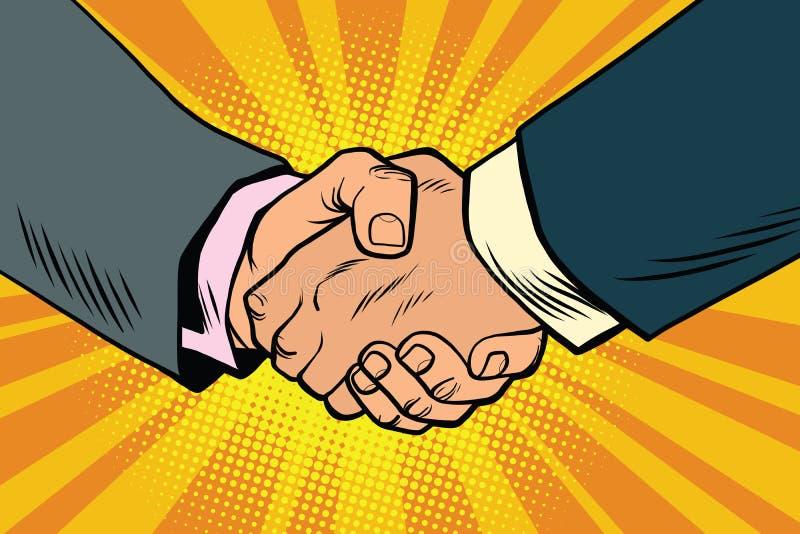 Affärshandskakning, partnerskap och teamwork vektor illustrationer