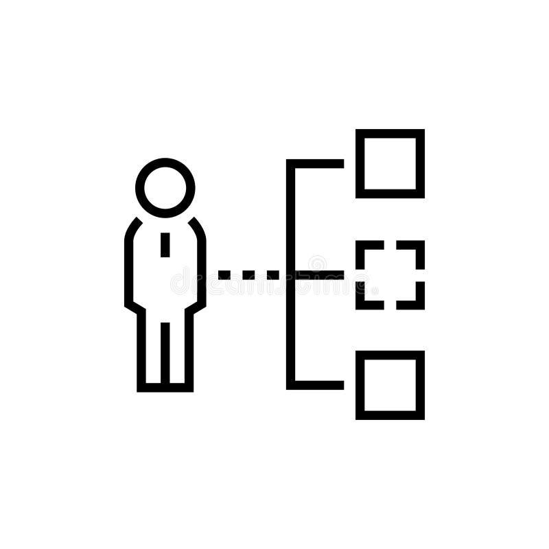 Affärshierarki - linjen designsingel isolerade symbolen vektor illustrationer