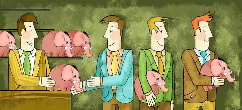 affärsidé 01 stock illustrationer