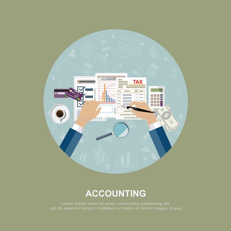 Affärsidé för finans också vektor för coreldrawillustration royaltyfri bild