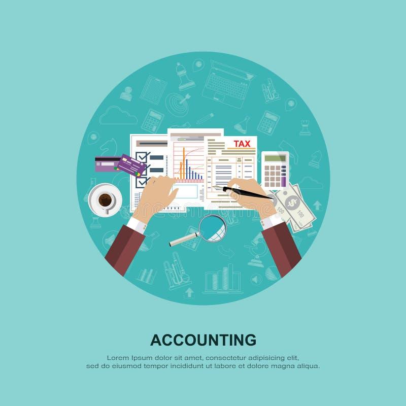 Affärsidé för finans också vektor för coreldrawillustration arkivfoto
