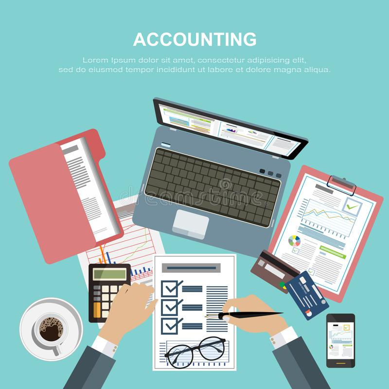 Affärsidé för finans också vektor för coreldrawillustration arkivfoton