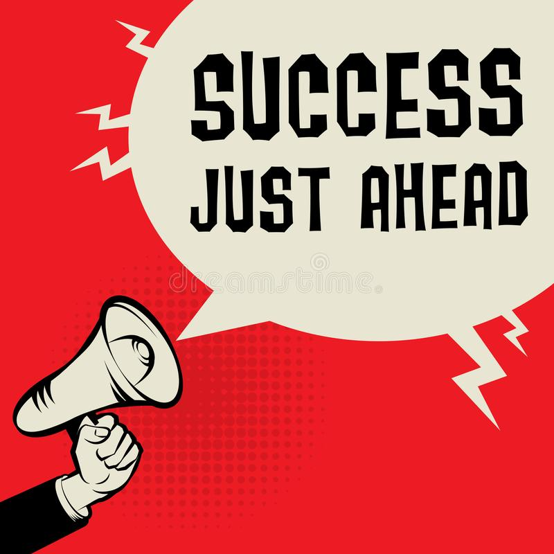 Affärsidé för framgång precis framåt royaltyfri illustrationer