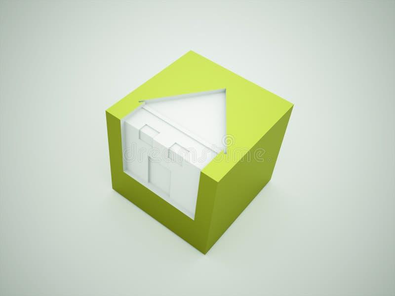 Affärsidé för gröna hus stock illustrationer