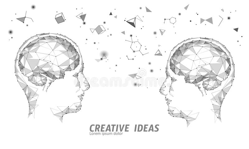 Affärsidé för IQ för mänsklig hjärna smart E-lära nootropic drogtilläggbraingpower Idérik idé för kläckning av ideer stock illustrationer