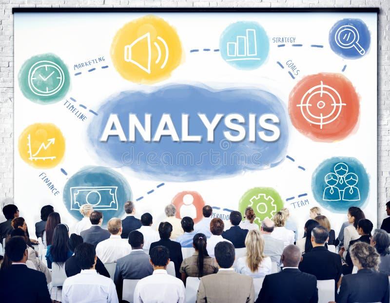 Affärsidé för mål för analysdataprocess arkivfoto