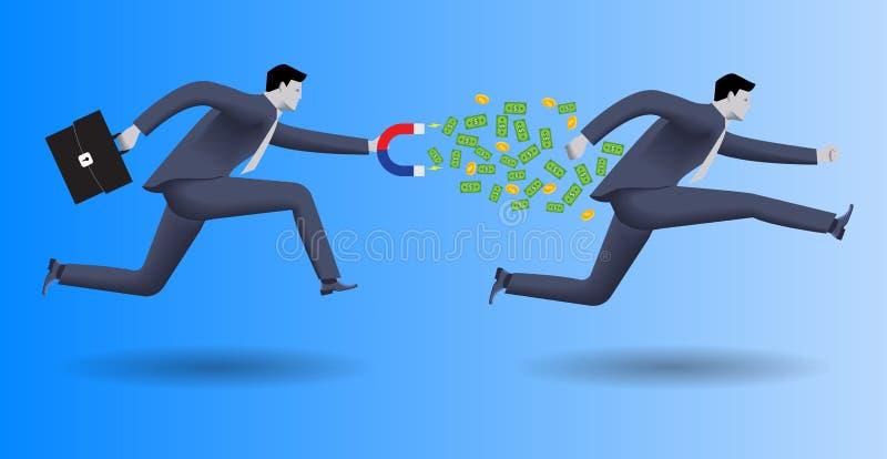 Affärsidé för skuldsamlare vektor illustrationer
