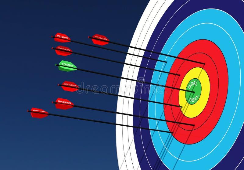 Affärsidé: För spekulation strategi kontra vektor illustrationer