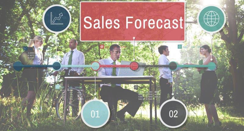 Affärsidé för strategi för försäljningsprognosplanläggning royaltyfri foto