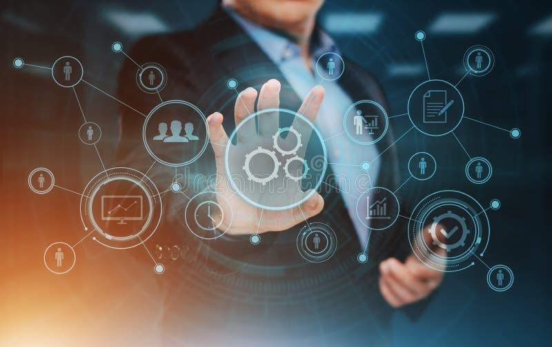 Affärsidé för system för process för automationprogramvaruteknologi royaltyfri bild