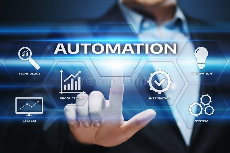 Affärsidé för system för process för automationprogramvaruteknologi royaltyfri fotografi