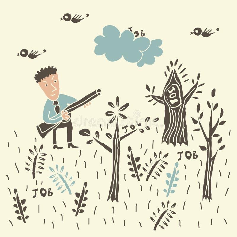 Download Affärsidé: jobbjägare vektor illustrationer. Illustration av pratstund - 27285518