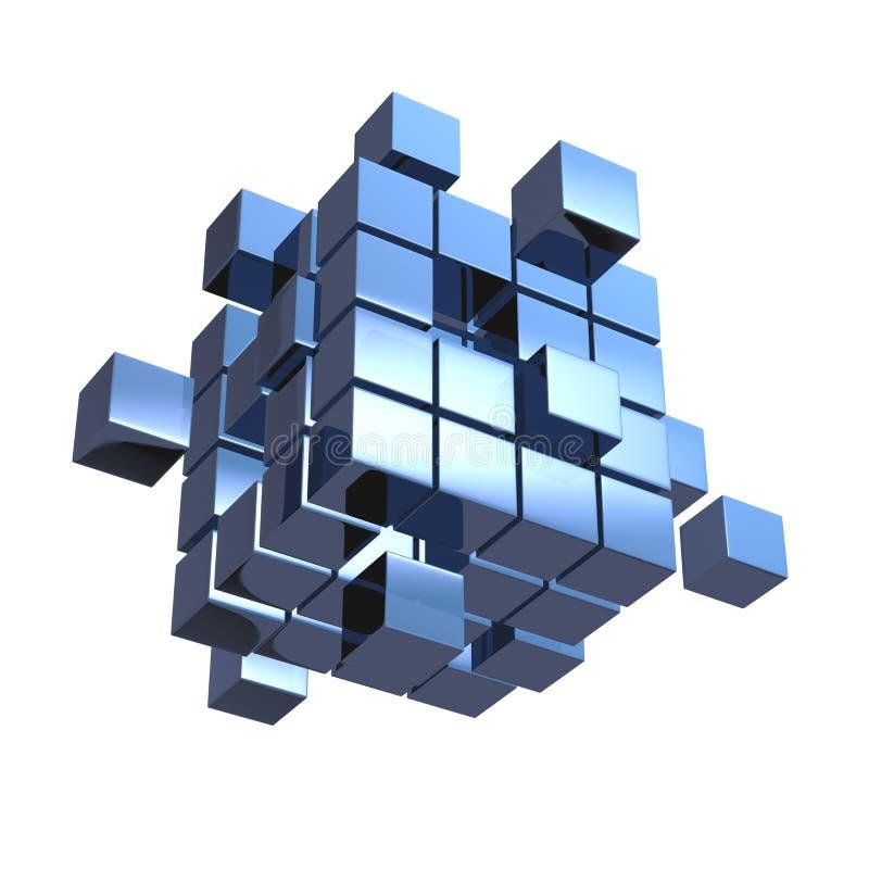 Affärsidé kub som monterar från kvarter vektor illustrationer