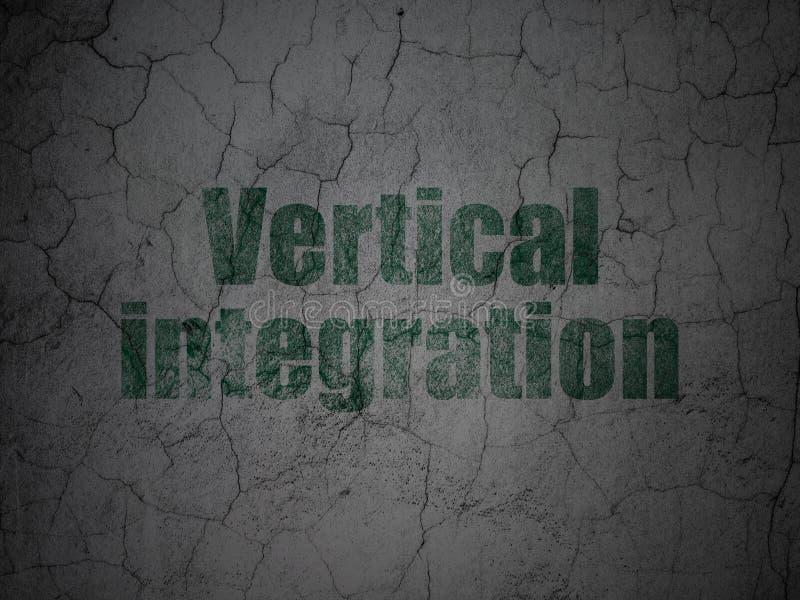 Affärsidé: Vertikal integration på grungeväggbakgrund royaltyfri foto