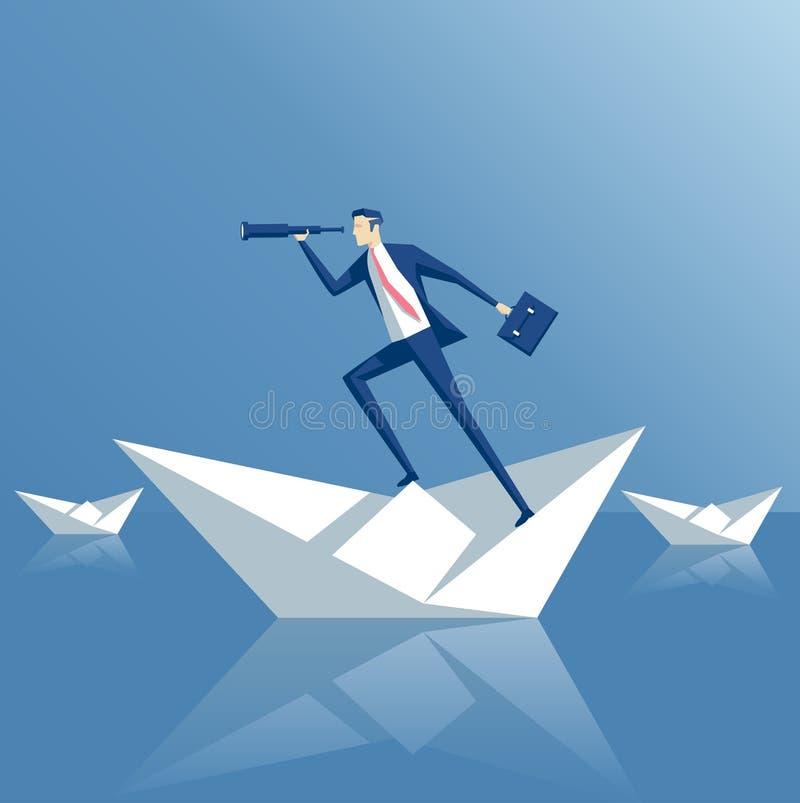 Affärsidésökande stock illustrationer