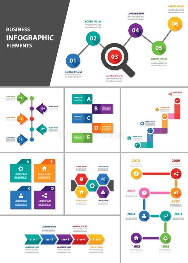 AffärsInfographic beståndsdel för presentation vektor illustrationer