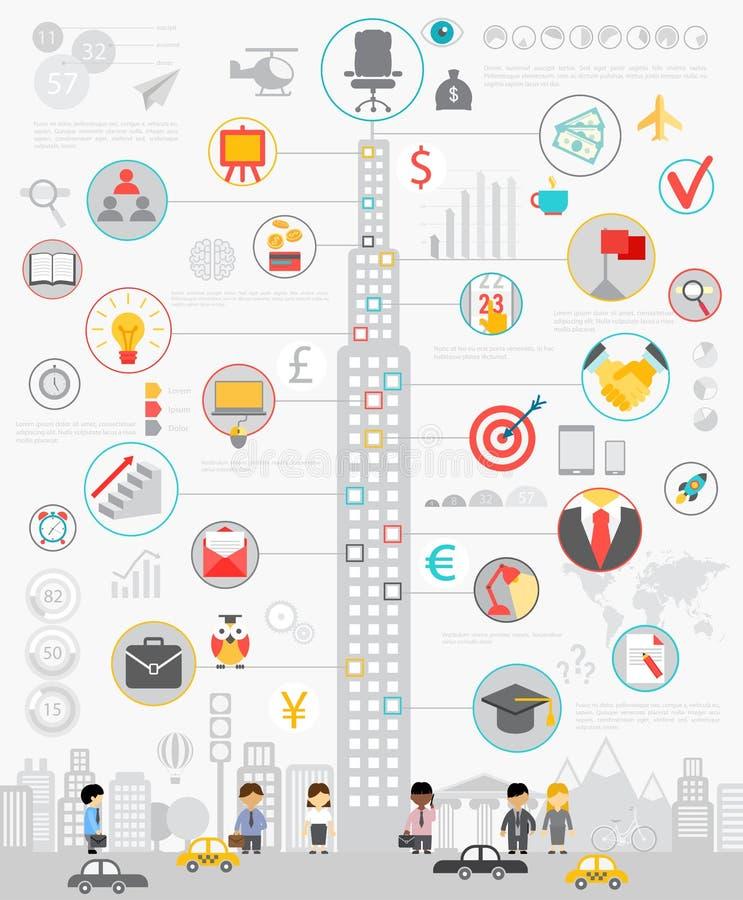 AffärsInfographic uppsättning med diagram och andra beståndsdelar stock illustrationer