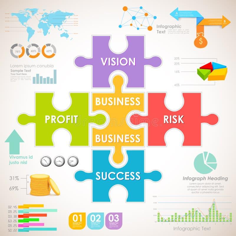 AffärsInfographics diagram stock illustrationer