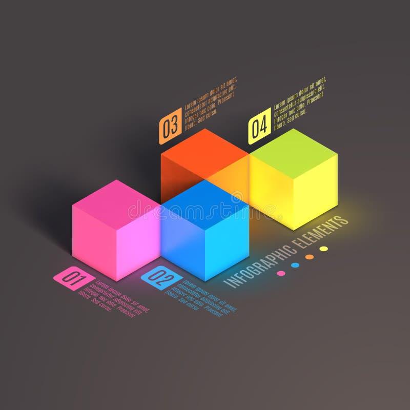 AffärsInfographics kub vektor illustrationer
