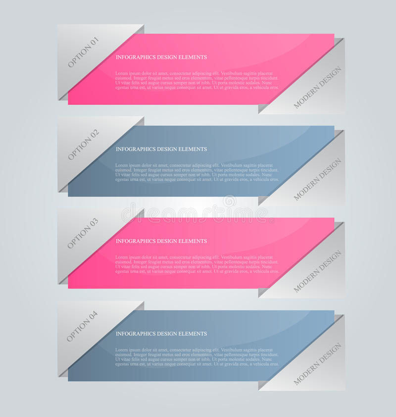 Affärsinfographicsen tabs mallen för presentationen, utbildning, rengöringsdukdesignen, banret, broschyren, reklamblad royaltyfri illustrationer
