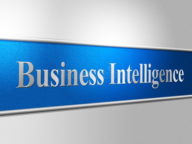Affärsintelligens visar intellektuell kapacitet och skarpsinne royaltyfri illustrationer