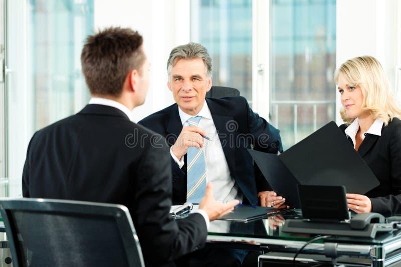 affärsintervjujobb arkivbild