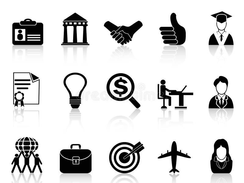 Affärskarriärsymboler stock illustrationer