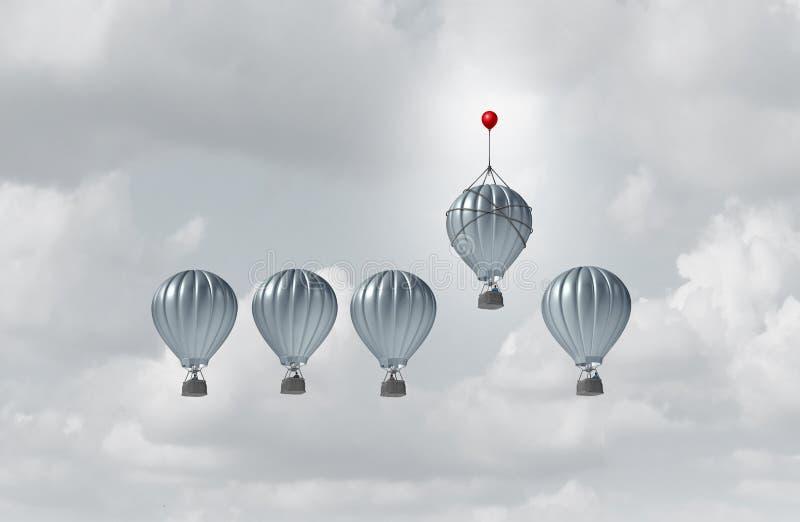Affärskonkurrensfördel stock illustrationer