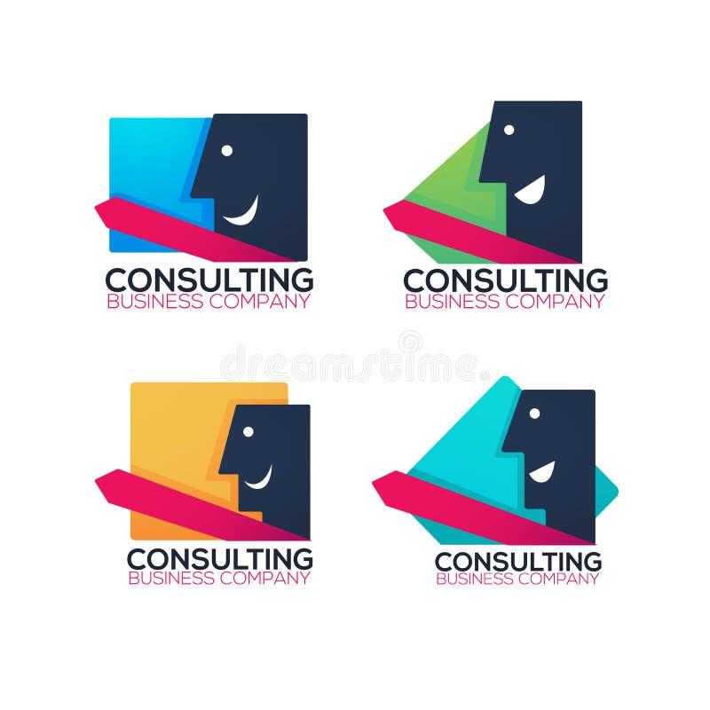 Affärskonsultföretag, logo, etikett, symbol, emblem, vektor vektor illustrationer