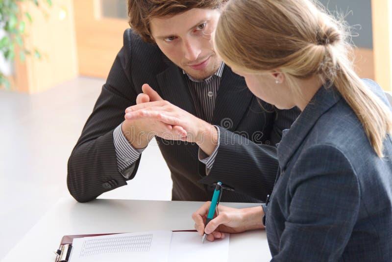 Affärskonversation royaltyfria foton