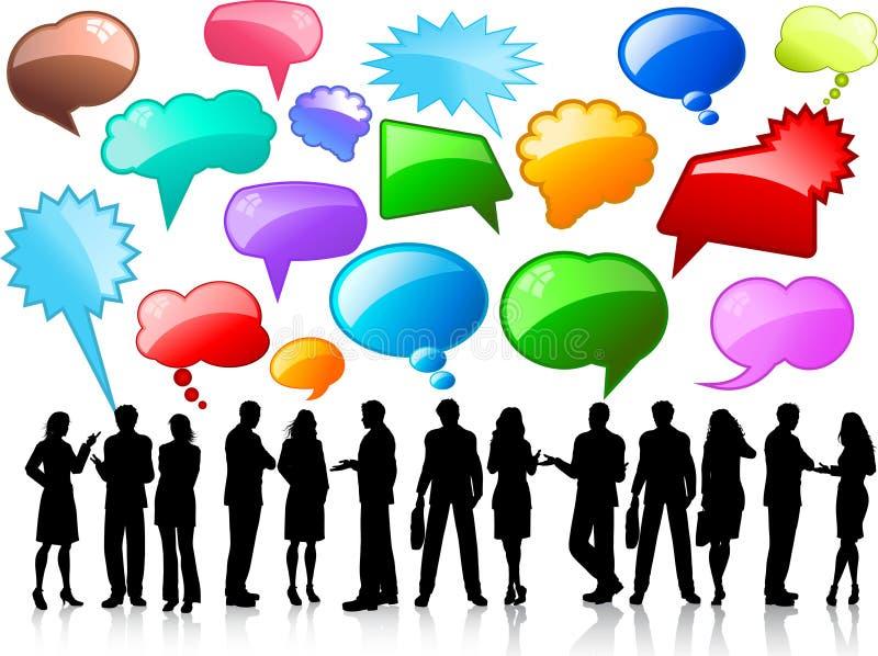 affärskonversationer vektor illustrationer